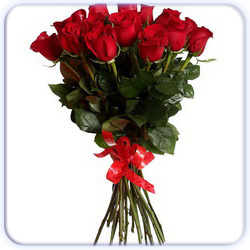 Red Roses Bouquet - 15 Stems