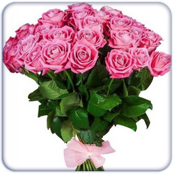 Pink Roses Bouquet - 27 Stems