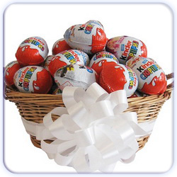Ten Kinder Surprise Eggs Basket