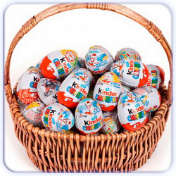 Twenty Kinder Surprise Eggs Basket